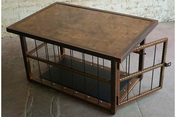 Hammered Steel Table Cage