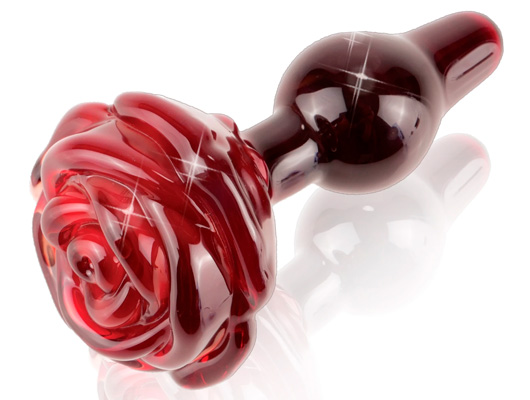 Glass Red Rose